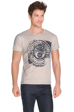 PEPE JEANS LONDON - Tee-shirtPM503231 CLIFFORDBeige
