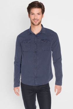 Chemise manches longues PETROL INDUSTRIES SIL 459 Bleu