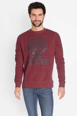 Sweat-shirt PETROL INDUSTRIES SWR 376 Rouge