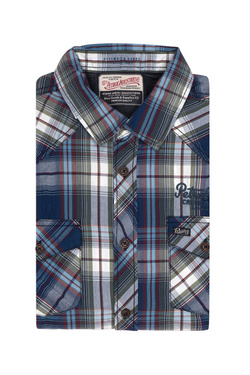 Chemise manches longues PETROL INDUSTRIES SIL 402 Bleu