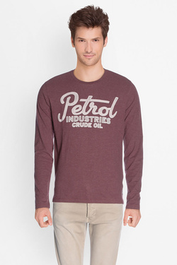 Tee-shirt manches longues PETROL INDUSTRIES TLR 640 Rouge bordeaux