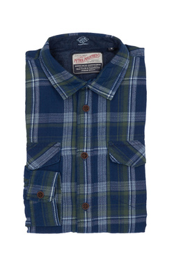 Chemise manches longues PETROL INDUSTRIES SIL 401 Bleu marine