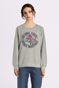 Sweat-shirt PETROL INDUSTRIES SWR 217 Gris clair