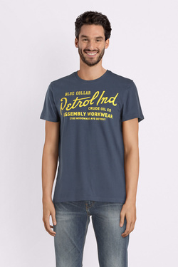 Tee-shirt PETROL INDUSTRIES TSR004 Bleu