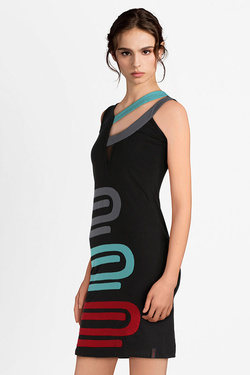 Robe PYGMEES TT2056 DRESS PAPERCLIP Noir