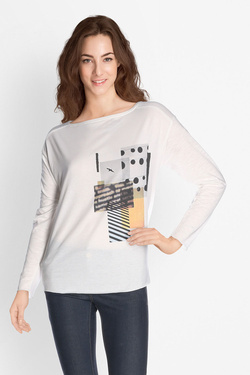 Tee-shirt manches longues S OLIVER 710.31.5759 Blanc