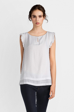 Blouse S OLIVER 14.803.13.4372 Blanc