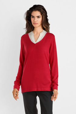 Pull S OLIVER 809.61.4672 Rouge