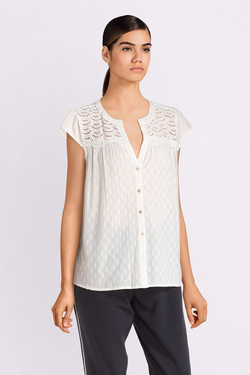Chemise manches courtes S OLIVER 904.12.2358 Blanc