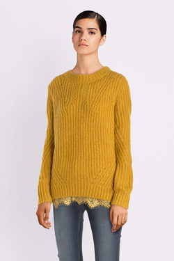 Pull S OLIVER 909.61.6433 Jaune moutarde