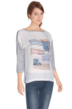 Tee-shirt manches longues S OLIVER 602.39.6904 Gris