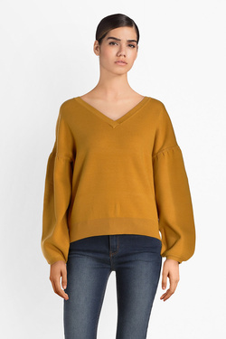 Pull SALSA 120482 Jaune moutarde