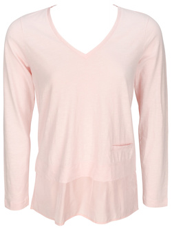 SANDWICH Tee-shirt manches longues ample rose 510122