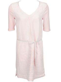 SANDWICH Robe en lin rose pale 590275