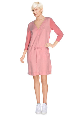 SANDWICH Robe en lin rose pale 23001020
