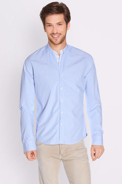 Chemise col mao micro vichy SCOTCH AND SODA