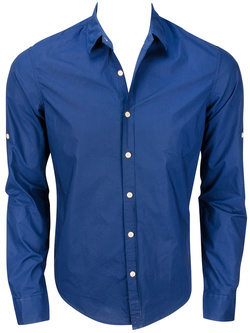 SCOTCH AND SODA Chemise manches longues bleu marine 1501022014