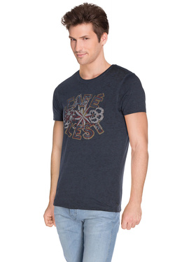 Tee-shirt SCOTCH AND SODA 130831 Bleu foncé