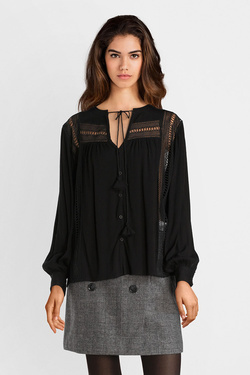 Chemise manches longues SEE U SOON 8211059 Noir