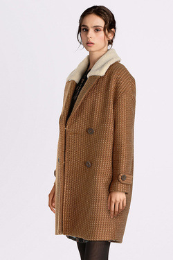Manteau SEE U SOON 8261144 Marron 983e5f2ab40
