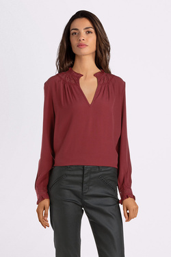Blouse SEE U SOON 9212090 Rouge bordeaux