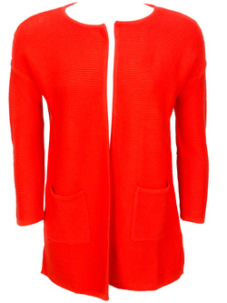 SEE U SOON Gilet buste long ouvert rouge 5104003