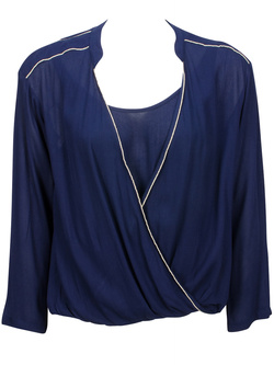SEE U SOON Blouse legere ample bleu marine 5111034