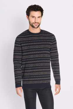 Pull SELECTED 16058140 Bleu marine