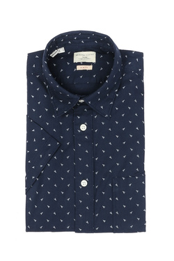 Chemise manches courtes SELECTED 16060806 Bleu marine