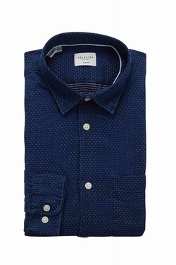 Chemise manches longues SELECTED 16063944 Bleu