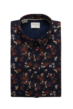 Chemise manches longues SELECTED 16063957 Bleu marine