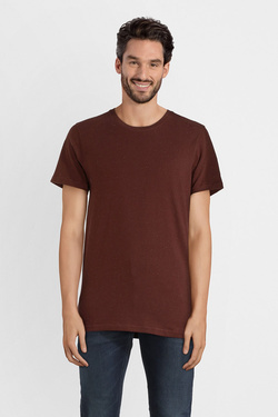 Tee-shirt SELECTED 16063634 Rouge bordeaux