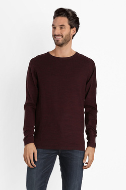 Pull SELECTED 16062808 Rouge bordeaux