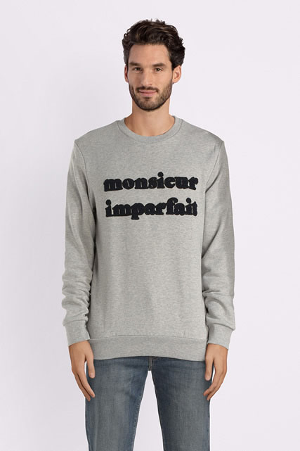 Sweat-shirt message bouclette SELECTED