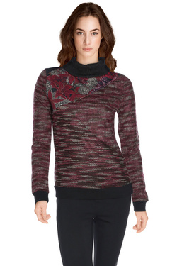 Pull SMASH A1619306 Rouge bordeaux