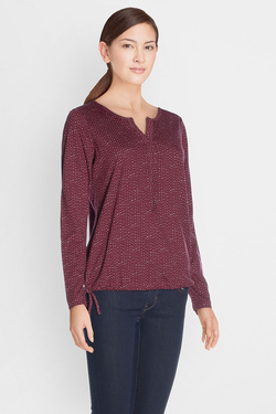 Tee-shirt manches longues STREET ONE 311422 Rouge bordeaux