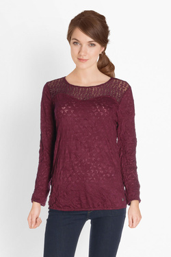 Tee-shirt manches longues STREET ONE 311497 Rouge bordeaux