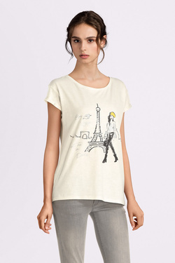 Tee-shirt STREET ONE 313930 Ecru