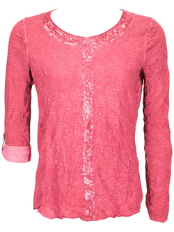 STREET ONE Tee-shirt manches longues rouge 46sn2ts304