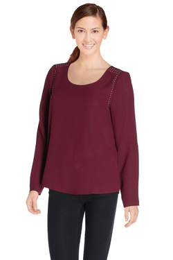 Blouse SUD EXPRESS 15383 Rouge bordeaux