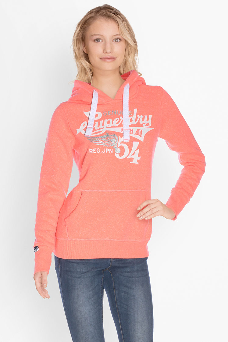 superdry sweat shirt g20050xo corail femme des marques et vous. Black Bedroom Furniture Sets. Home Design Ideas