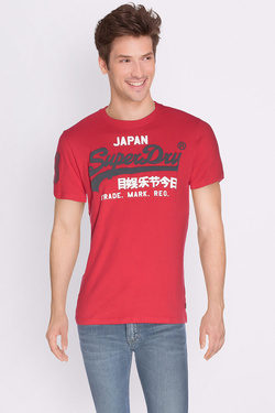 Tee-shirt SUPERDRY M10007HODS Rouge