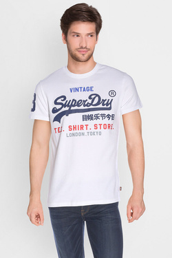 Tee-shirt SUPERDRY M10040ANF1 Blanc