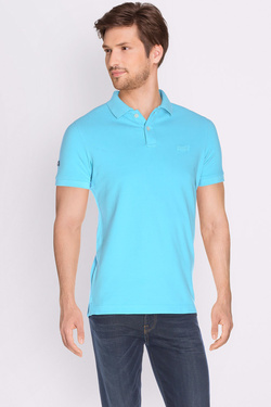 Polo SUPERDRY M11MT009F3 Bleu turquoise