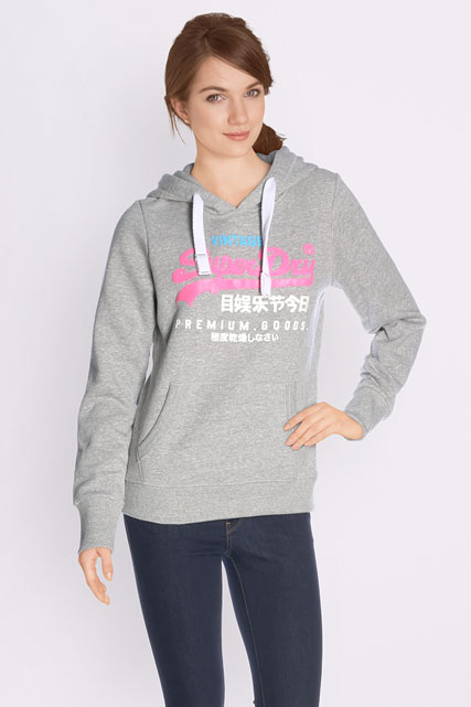 superdry sweat shirt g20014xp gris femme des marques et vous. Black Bedroom Furniture Sets. Home Design Ideas