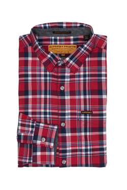 Chemise manches longues SUPERDRY M40005EP Rouge