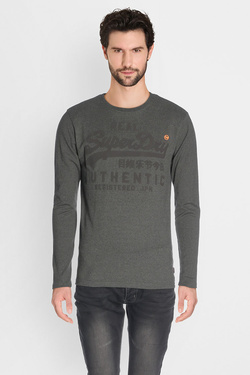 Tee-shirt manches longues SUPERDRY M60026XP Gris