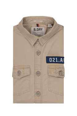 Chemise manches longues SUPERDRY M40000EQ Beige