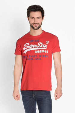 Tee-shirt SUPERDRY M10009HQDS Rouge
