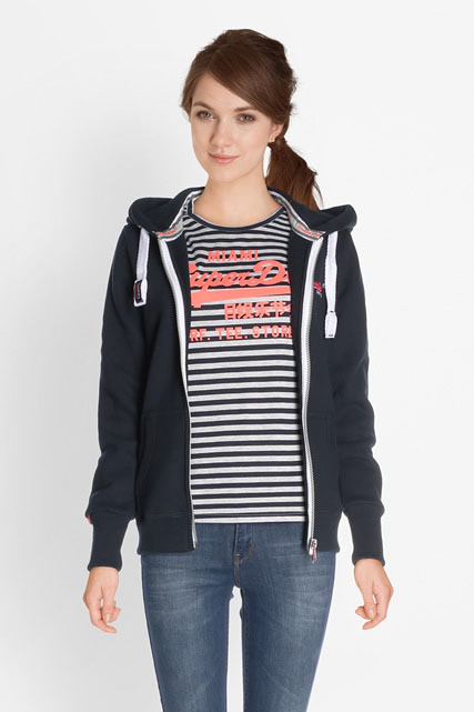 superdry sweat shirt g20007ns bleu marine femme des marques et vous. Black Bedroom Furniture Sets. Home Design Ideas